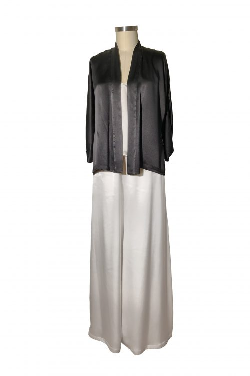 Image of silk satin Amira Kimono