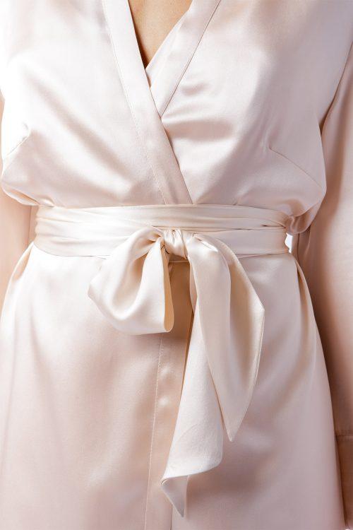 Image of Elizabeth V silk satin Alice robe