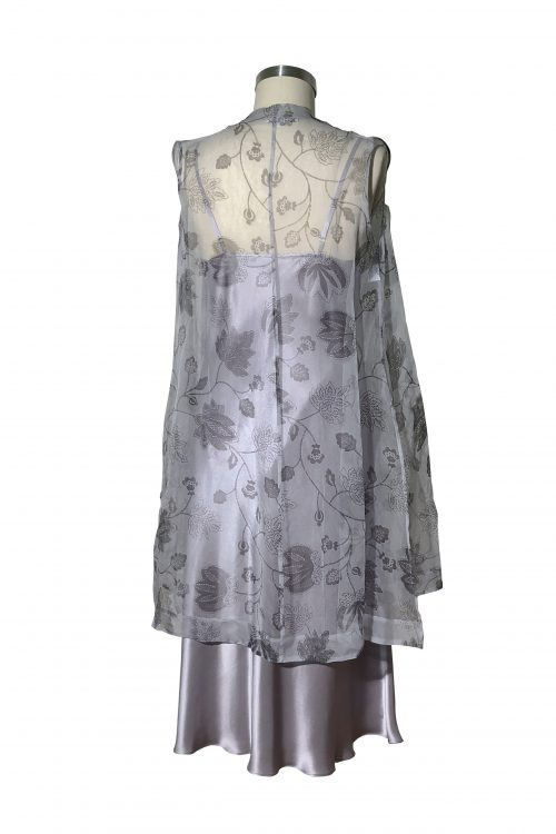 Image of Elizabeth V silk organza Nella long sided vest