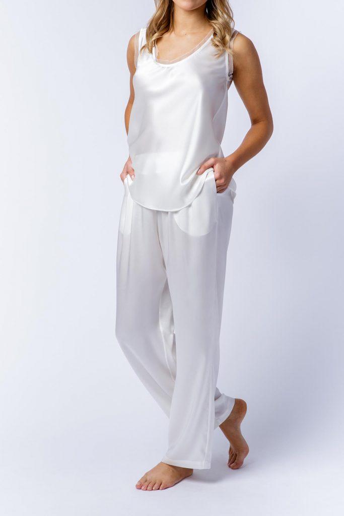 Image of Elizabeth V silk satin Ann pants