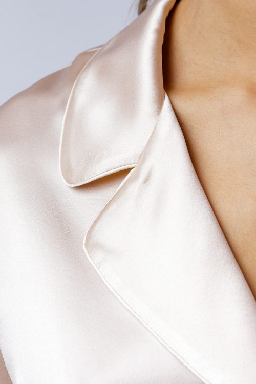 Image of Elizabeth V silk satin Ann shirt