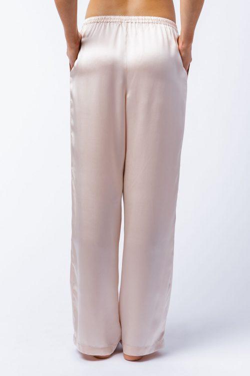 Image of Elizabeth V silk satin Bella pants
