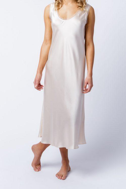 Image of Elizabeth V silk satin Cate slip dress