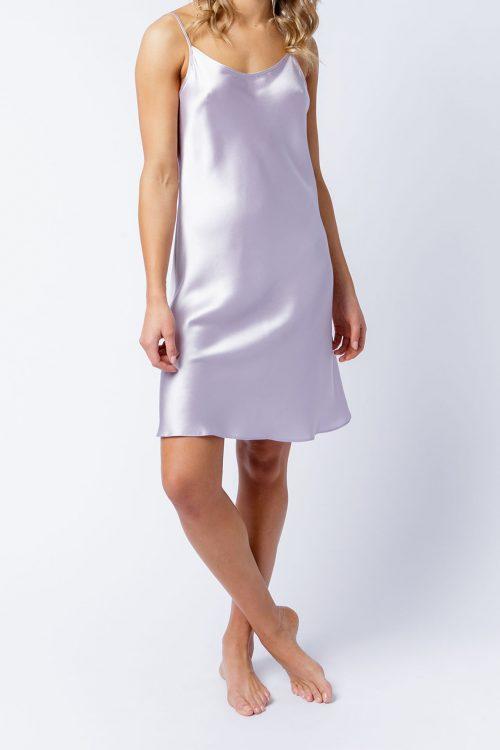 Image of Elizabeth V silk satin Estella slip dress