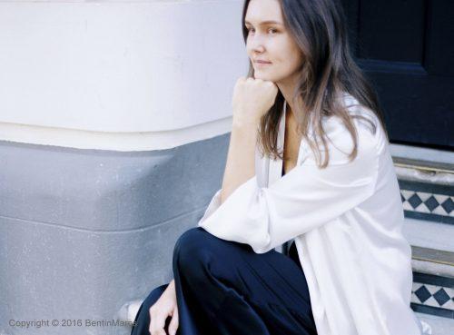 Image of model wearing robe