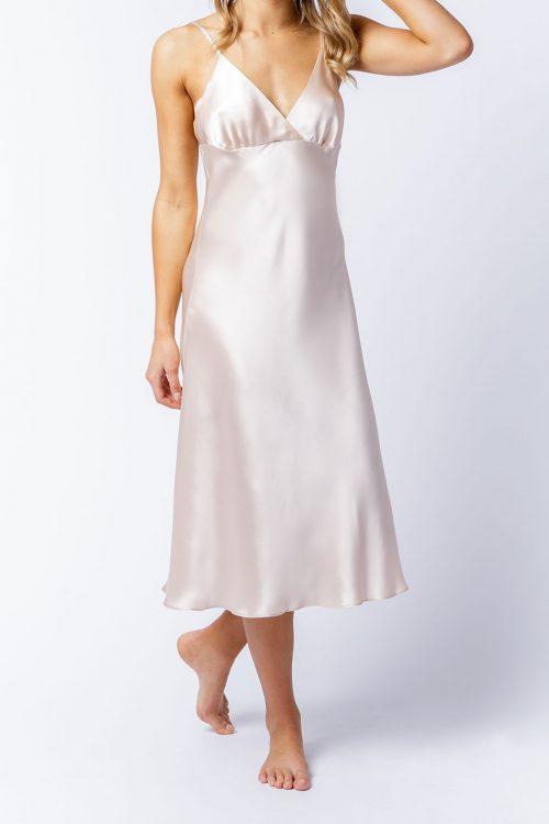 Image of Elizabeth V silk satin Isabella slip dress