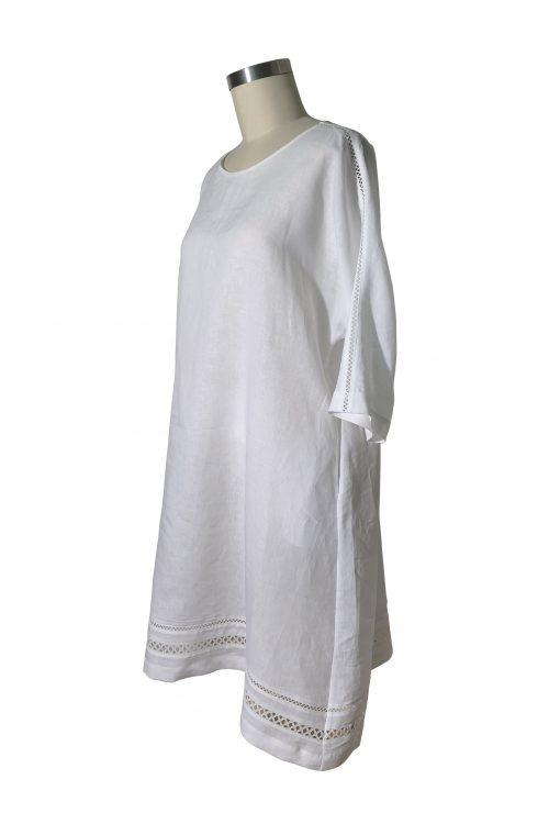 Image of Elizabeth V heavy silk crepe Laetitia Too long tee
