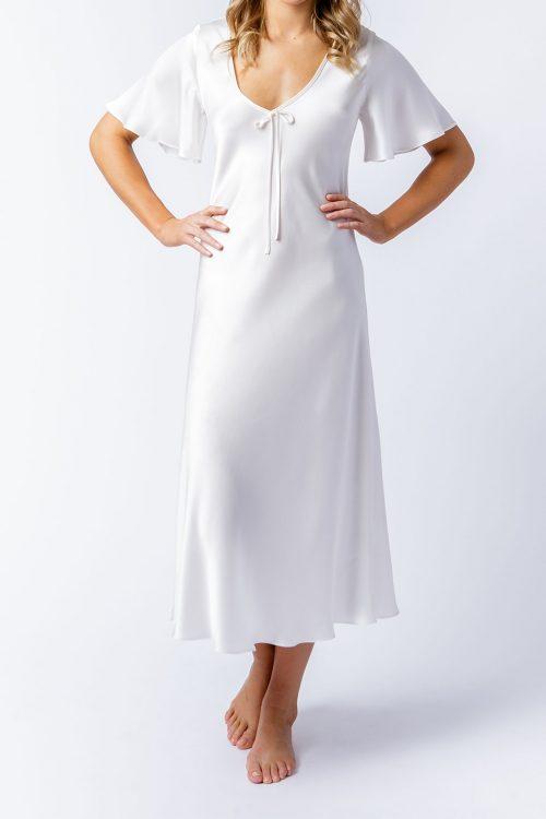 Image of Elizabeth V silk satin Liz dress