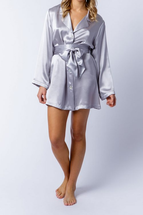Image of Elizabeth V silk satin Margie shirt