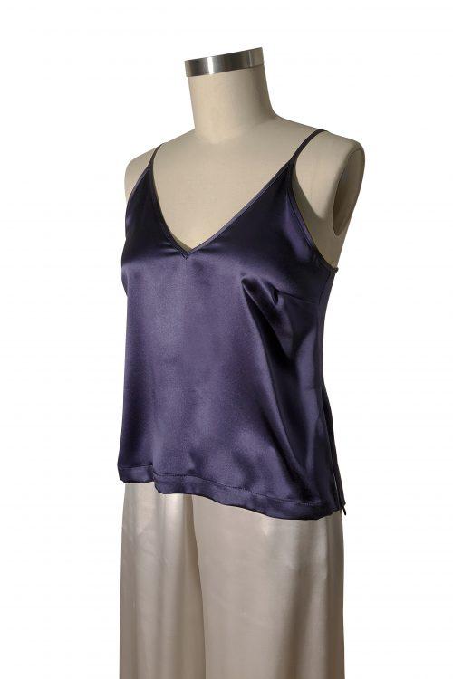 Image of Elizabeth V silk satin Martina camisole