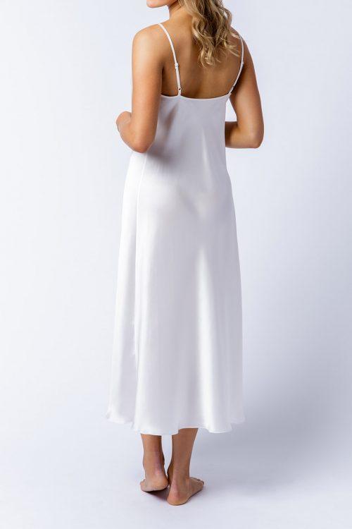 Image of Elizabeth V silk satin Rosetta slip dress