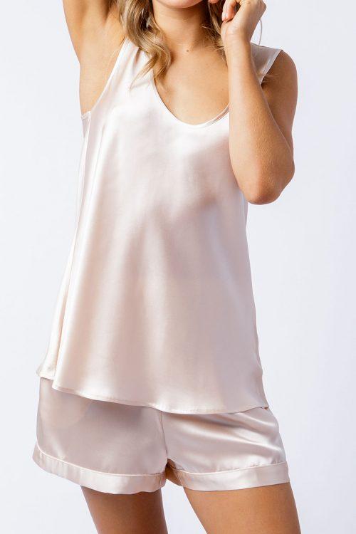 Image of Elizabeth V silk satin Rosie singlet